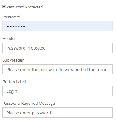 password protect form